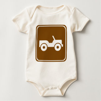 4WD Off-road Trail Highway Sign Baby Bodysuit