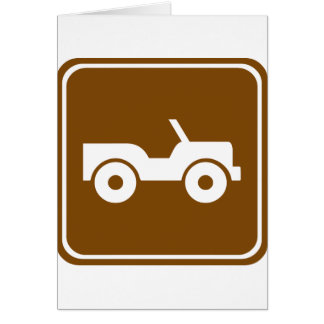 4WD Off-road Trail Highway Sign Card