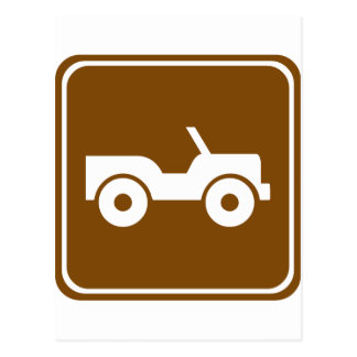 4WD Off-road Trail Highway Sign Postcard