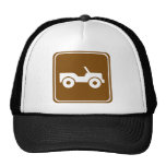 4WD Off-road Trail Highway Sign Trucker Hats