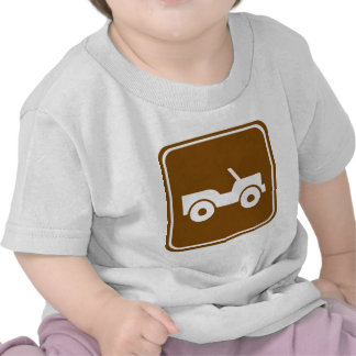 4WD Off-road Trail Highway Sign Tshirts