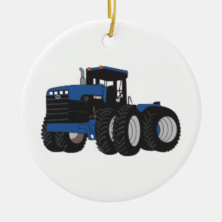 4WD Tractor Ceramic Ornament