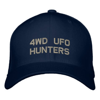 4WD UFO HUNTERS Flex Fit Embroidered Hats