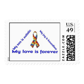 4x2 triangle my autistic son 1 postage