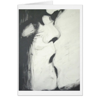 """4'X3' Acrylic Painting """"Kiss"""" Signed RT Stone 1997 Greeting Cards"""