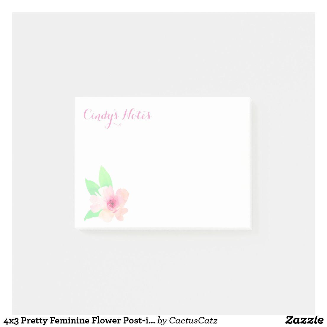 4x3 Flower Post-it Notes