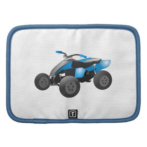 4x4 ATV se divierte los regalos azules del destino Planificador