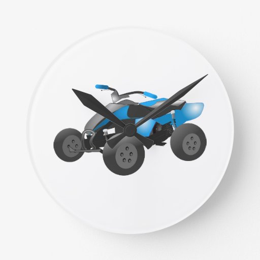 4x4 ATV Sports Blue Destiny Gifts Wallclock