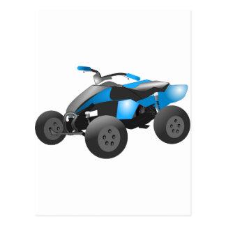 4x4 ATV Sports Blue Destiny Gifts Post Cards