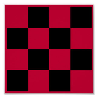 "4x4 Checkers TAG Board (1-1/4"" fridge magnets) Posters"