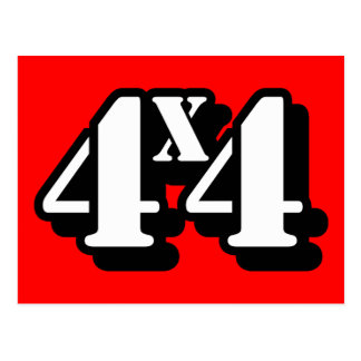 4x4 Four By Four ATV Four Wheel Drive Postcards