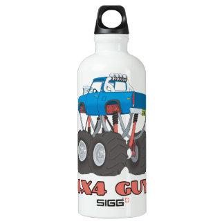 4x4 Guy: Blue, lifted off-road Monster Truck Water Bottle