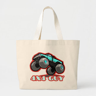 4x4 Guy: Off-road Monster Truck (all terrain) Large Tote Bag