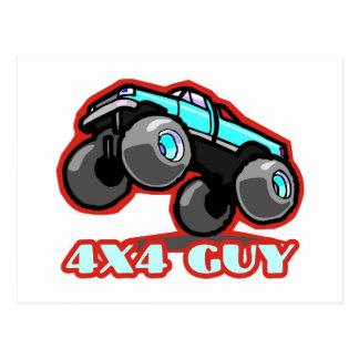 4x4 Guy: Off-road Monster Truck (all terrain) Postcard
