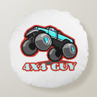 4x4 Guy: Off-road Monster Truck (all terrain) Round Pillow