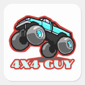 4x4 Guy: Off-road Monster Truck (all terrain) Square Sticker