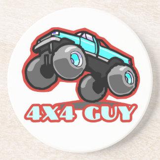 4x4 Guy: Off-road Monster Truck Sandstone Coaster