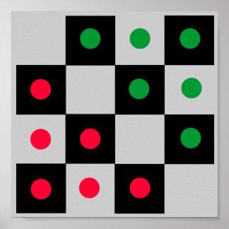4x4 Halma Fridge ~TAG~ Game Board Print