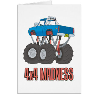 4x4 Madness: High lifted off-road Monster Truck Card