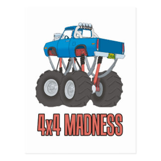 4x4 Madness: High lifted off-road Monster Truck Postcard