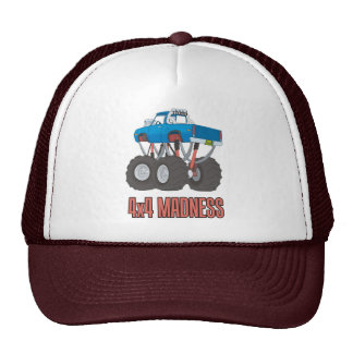 4x4 Madness: High lifted off-road Monster Truck Trucker Hat