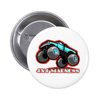 4x4 Madness: Jumping off-road Monster Truck Pinback Button