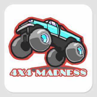 4x4 Madness: Jumping off-road Monster Truck Square Sticker