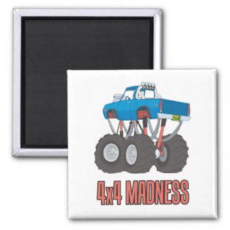 4x4 Madness: Off-road Monster Truck Fridge Magnet