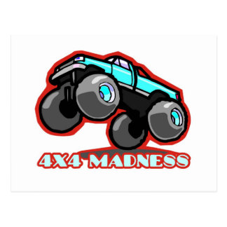 4x4 Madness: Off-road Monster Truck Post Cards