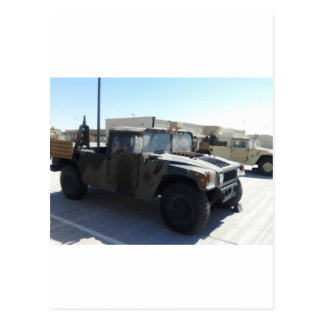 4x4 Military Ride Postcard