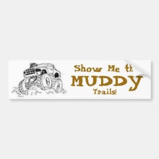 4X4 Mud Truck Bumper Sticker Car Bumper Sticker