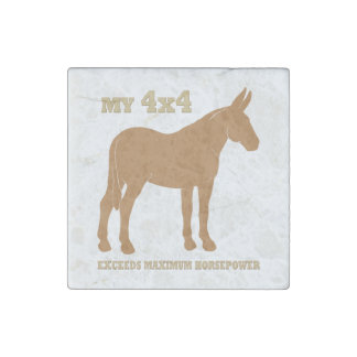 4x4 Mule Exceeds Horsepower Stone Magnet