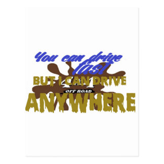 4x4 off road drive anywhere postcards