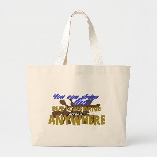 4x4 off road drive anywhere tote bag
