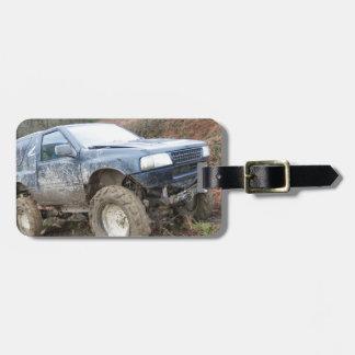 4x4 Off Roader on mud Bag Tag
