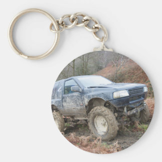 4x4 Off Roader on mud Keychain
