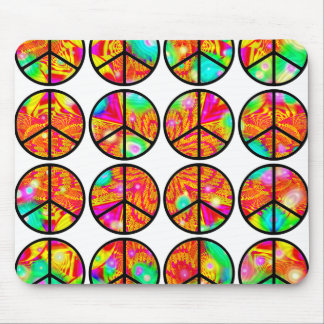 4x4 Psychedelic Peace Mouse Pad