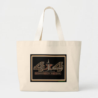 4X4 Rig Up Camo Large Tote Bag
