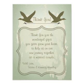 4x5 FLAT Thank You Card Country Duck Hunting Custom Announcements