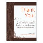 4x5 FLAT Thank You Card Fall Tree Initial Carvings