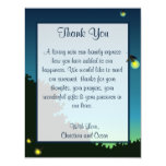 4x5 FLAT Thank You Card Fireflies and Mason Jars Personalized Invites