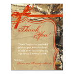 4x5 FLAT Thank You Card Hunters Camoflouge Camo Announcements