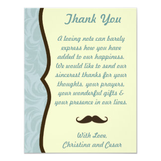 4x5 FLAT Thank You Card I Mustache You a Question
