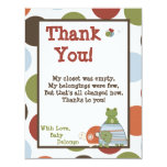 "4x5 FLAT Thank You Card Laguna Beach Turtle Frog 4.25"" X 5.5"" Invitation Card"