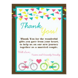 4x5 FLAT Thank You Card Lovers Bike Bicycle Carniv