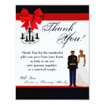 4x5 FLAT Thank You Card Marine African Ame Uniform