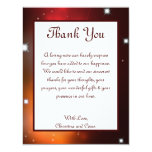 4x5 FLAT Thank You Card Maroon Moroccan Lantern