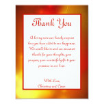 4x5 FLAT Thank You Card Moroccan Lantern