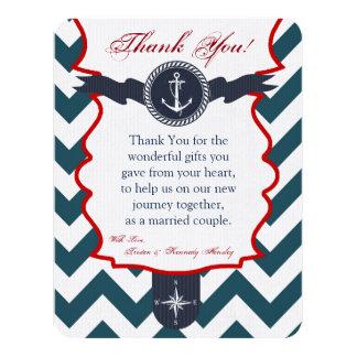 4x5 FLAT Thank You Card Nautical Anchor Compass