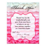 4x5 FLAT Thank You Card Ombre Stripe Pink Frosting